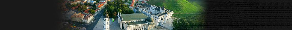 Vilniaus miesto panoraminė 360° apžvalga iš paukščio skrydžio.
